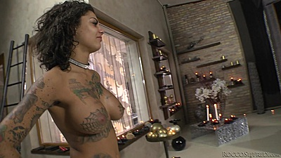 Fresh horny slut Bonnie Rotten in her behind the scenes special views:407