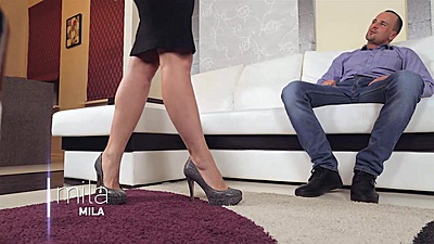 Fantastic miniskirt and high heels with Mila Andreas views:496