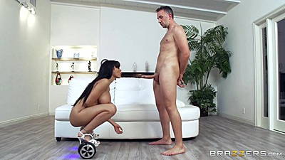 Futuristic hoverboard sucking with busty Luna Star views:1197