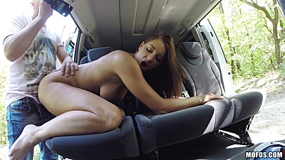 Backseat rear entry with natural boobs hitchhiking student Felicia views:661