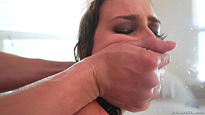 Ashley Adams enjoys a rough sex shower while being pinned to the wall views:5069