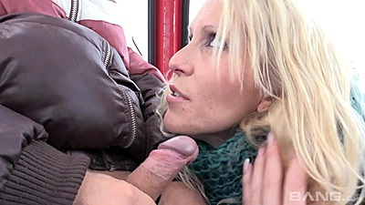Blowjob on the ski lift with fully clothed milf Julia Pink views:332