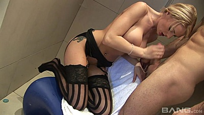 Big boobs power shower sex with tasty Antonia Deona views:917