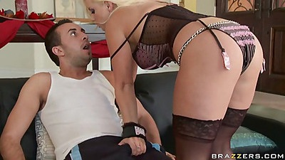 Blonde Britney Skye sucking off some dick