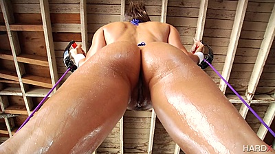 Oil on ass workout from super babe Abigail Mac views:337