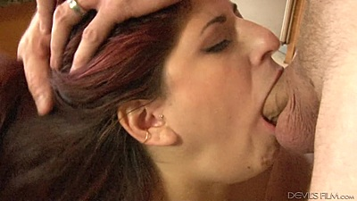By daughters friend Nikki Knightly deep throats cock right in the kitchen views:240