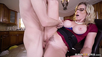 Frontal kitchen stool sex with half clothed and exposed tits milf mom Cory Chase views:484