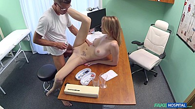 Great young body girl czech Bell Claire lays naked on doctors desk views:289