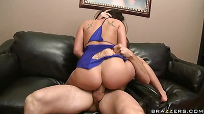Cowgirl fucking with a finger up her ass