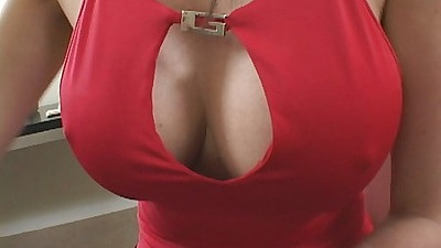 Busty tits on a milf gets a black cock