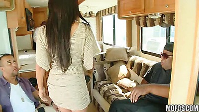 Milfs like it black in an rv
