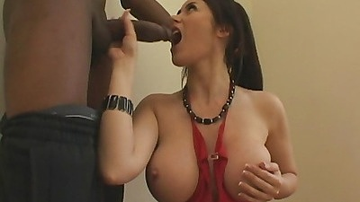 Evay gets a monstrous black dick coming over