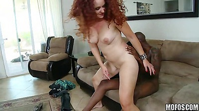 Big tits shaved pussy milf riding black cock views:4841