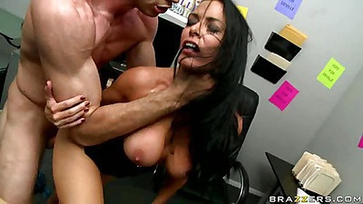 Rough sex Vanilla with big tits fucked in office