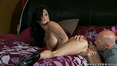 Big tits milf spreading her ass licking out