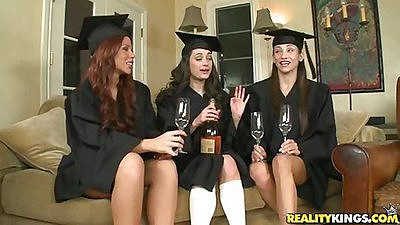 Hot grad girls having drinks in a group views:2965