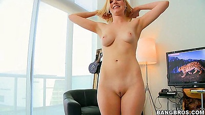 Rylie gets naked and strokes dues cock views:2712
