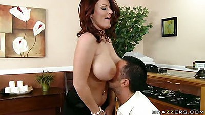 Sophie Dee shaking big nice tits and sucking dick views:10875