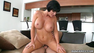 Best big tits milf Shay Fox sitting on cock