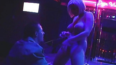 Memphis does a little private dance at the strip club