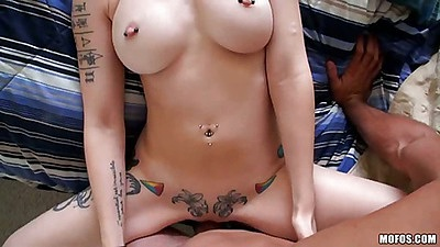 Big tits amateur redhead girl spreads for fuck