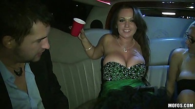 Limo fucking around getting fucked up