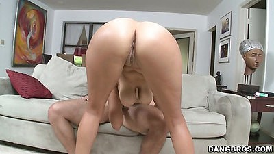 Great tan lines milf ass sitting on dick