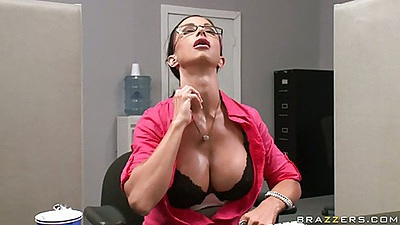 Big tits Jewels is all sweaty in office