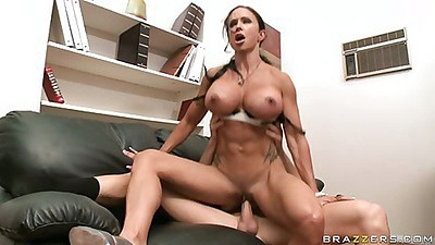 Big tits Jewels sucking dick and hardcore sex