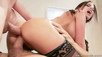 Nice anal with double penetration with Brandy