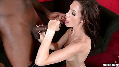 Big black cock gets jerked and stroked by milf
