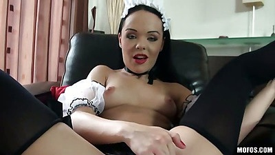 Hot ass all natural tits and ass House maid finger her own pussy