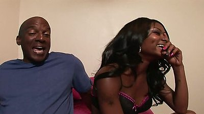 Two hot black girls Myesha & Baby getting large black cock