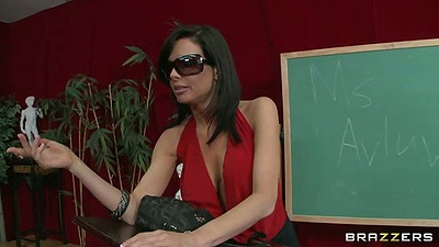 Emma Starr and Veronica Avluv at school