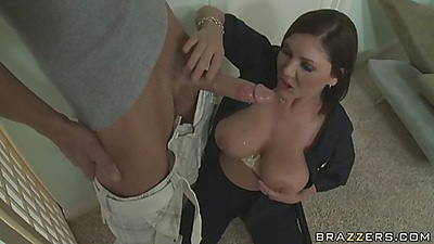 Big butts chick goes down on a big cock