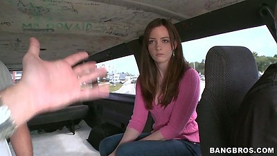 18 year old amateur Tiffany Lane picked up in the back seat of bangbus views:11518