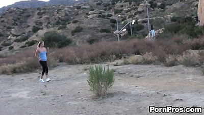 Working out babe Heather Starlet violated while jogging in park views:7210
