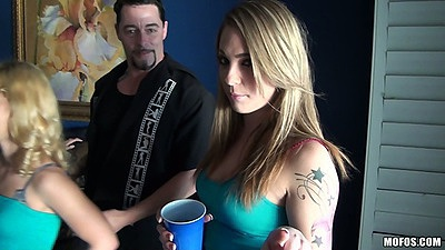 College slut party with Elizabeth Bentley and Bailey Blue
