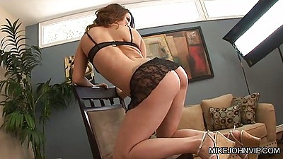 Nice ass in lingerie showing and touching