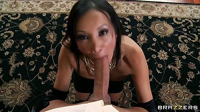 Asian Katsuni pov blowjob and deep throat