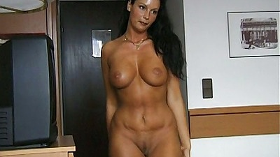 Big tits Carmen Moore undresses for first sex video scene