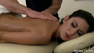 Nikki Daniels gets a nice oil massage from Johnny Sins