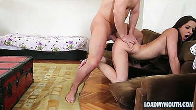 Doggy style penetration with small tits petite Amirah Adara