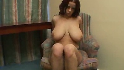 Big tits gf shows her pussy by spreading legs and touchin git