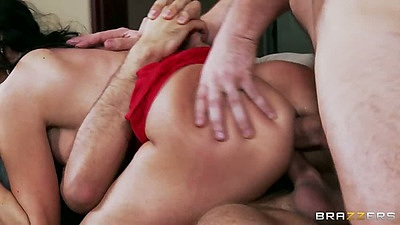 Cheating wife Ava Addams double penetration with rough anal fuck
