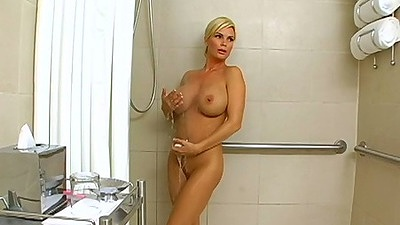 Shower time with big tits milf Diamond Foxxx and wearing sexy lingerie