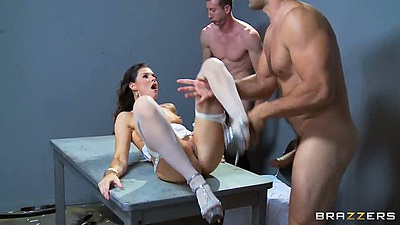 Prison sex with India Summer wearing sexy lingerie