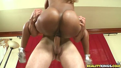 Big ass ebony Monica fucked in that juicy round ass