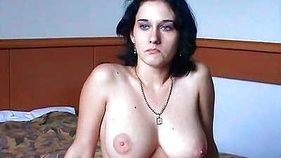 Natural tits chick gives an interview on her first sex video