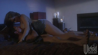 Bedroom couple sex with Tory Lane making out and sideways fucked